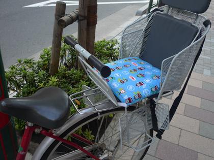 自転車クッション装着