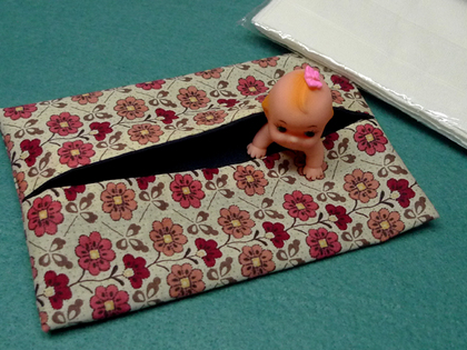 ポケットティッシュカバー(2)~2種類布でリバーシブル