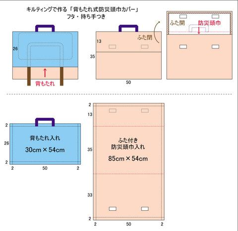 防災頭巾カバーK詳細