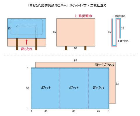 防災頭巾カバーP詳細図