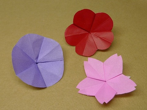 花 折り紙 花 折り紙 作り方 : matome.naver.jp