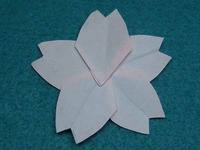 五角形簡単さくら5