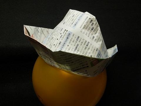 新聞紙で作るテンガロンハット