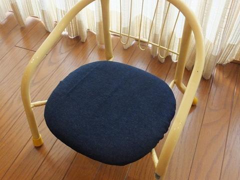 豆いす(子供用パイプ椅子)のカバー