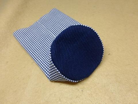 丸底の縫い方(長方形に円を縫い付ける)