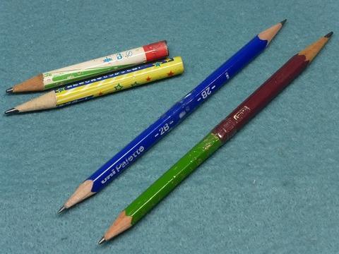 短い鉛筆をつなげてちょっと長くする方法