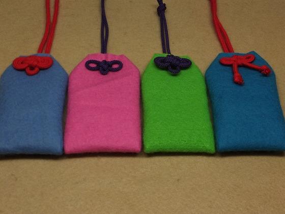 すべての折り紙 折り紙で作る袋 : フェルトのカラフル&ふっくら ...