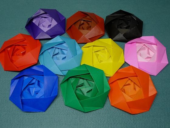 すべての折り紙 平面折り紙 : バラ(折り紙) : 【まさに芸術 ...