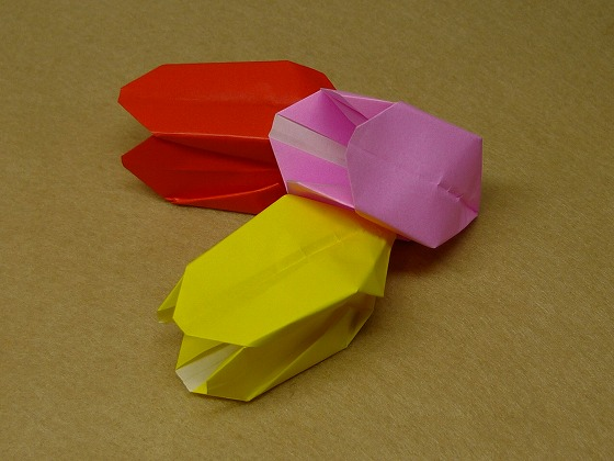 折り紙の 折り紙チューリップの折り方 : handmade.xsrv.jp