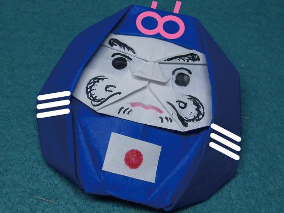 サッカー日本代表だるま