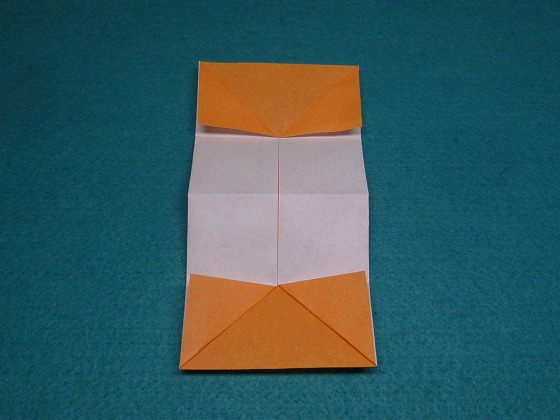 すべての折り紙 折り紙パンダ顔折り方 : 角を三角に折ります。(4ヶ所 ...