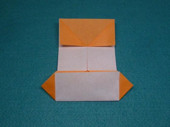 すべての折り紙 折り紙パンダ顔折り方 : このように左右折ります。