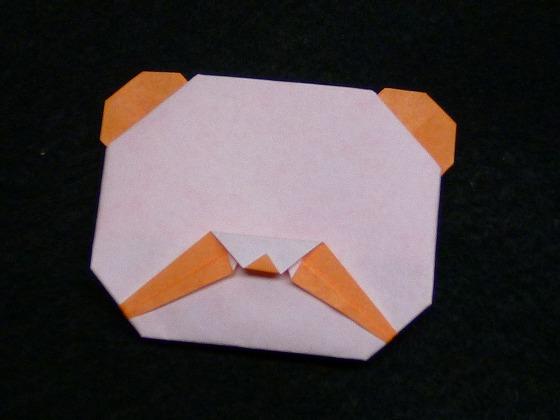 ハート 折り紙 折り紙パンダ顔折り方 : handmade.xsrv.jp