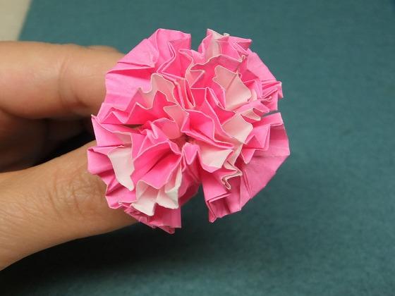 折り紙カーネーション2