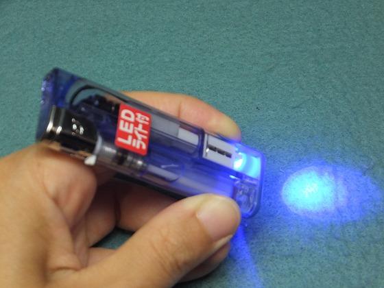 LED付ライター
